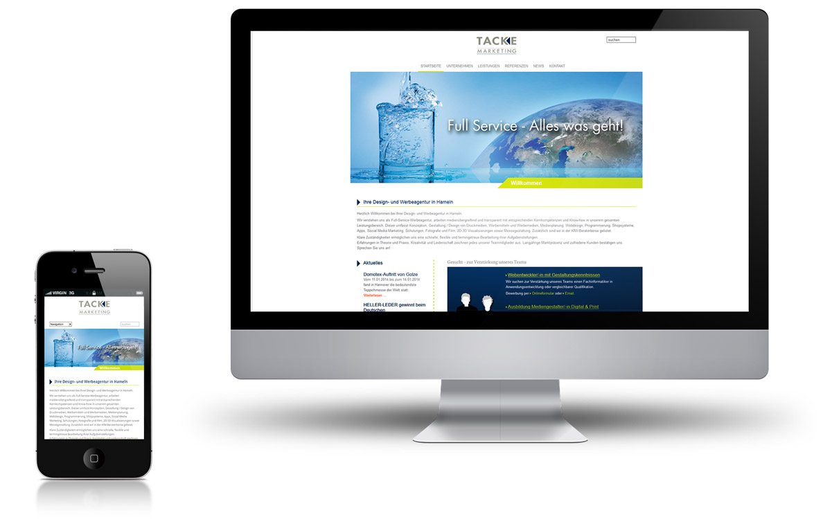 Tacke Marketing Website Relaunch